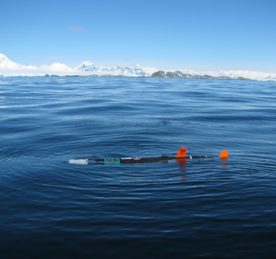 Remus 100 in the Antarctic. University of Delaware Robotics Lab