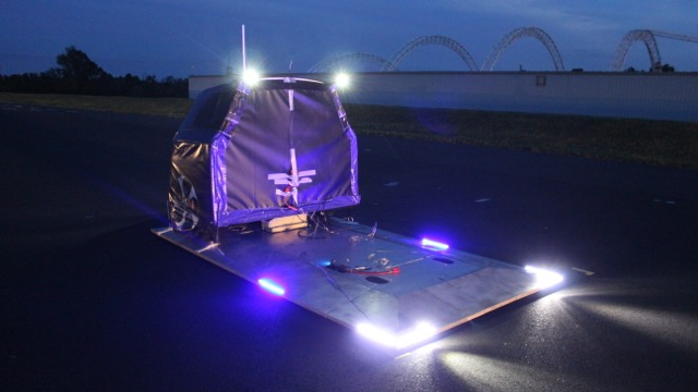 The AVTS was developed based on requirements from the Institute for Highway Safety. Perrone Robotics