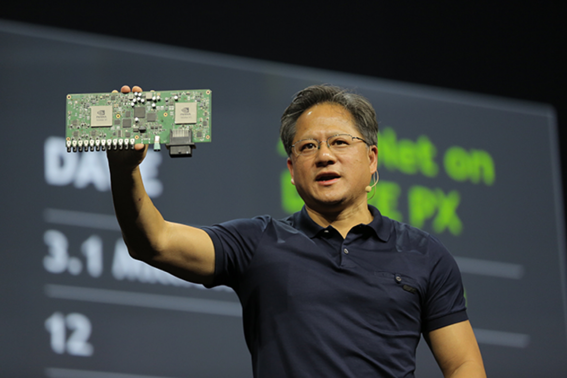 NVIDIA DRIVE PX's twin Tegra X1 processors deliver 2.3 teraflops of power.