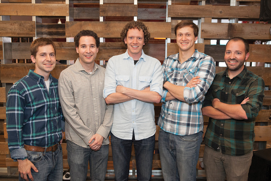 Jonathan Downey (center) and the Airware founding team. Photo courtesy of Airware