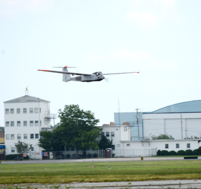 The RS-20 UAS landing at the Cape May County Airport in New Jersey during recent flights to test new technology designed to avoid collisions with other aircraft — a key step toward the integration of unmanned aircraft into the national airspace.  Photo courtesy of American Aerospace Technologies Inc.