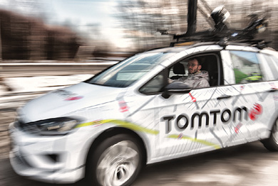TomTom's HD map of the Autobahn made using this mapping vehicle, will give automated cars additional reference points.