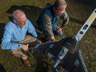 Auburn researchers using unmanned aircraft to assess crop health