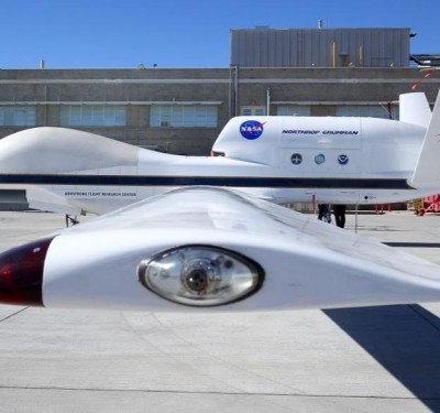 Up close and personal with NASA's Global Hawk drones at Edwards Air Force Base