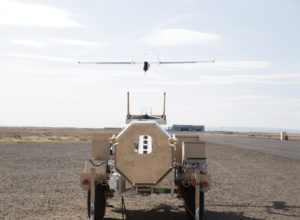 The new ScanEagle3 takes off during a test.