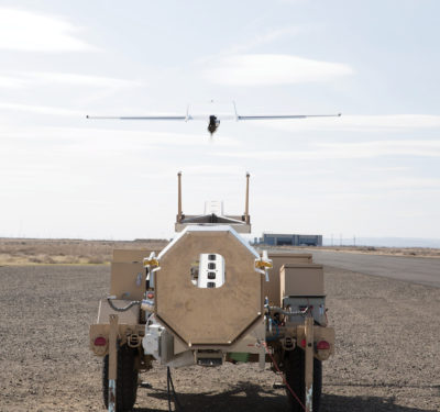 ScanEagle3 takes off for a test