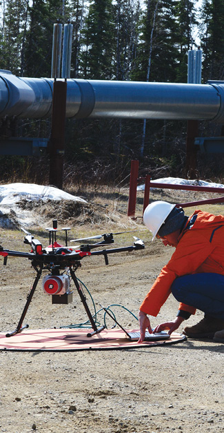 IPP team member Alyeska began trying pipe inspection with drones in 2013.