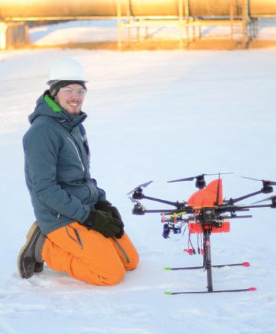 Drone worker in Alaska