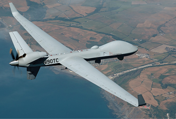 General Atomics MQ-9B flew from Grand Forks, North Dakota to the Farnborough Airshow with 16 hours of fuel to spare.