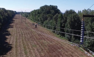 DJI Inspire performing line inspections