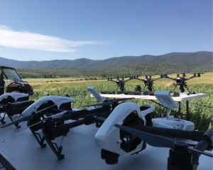 Aerial drones at the VTO Labs field research station in Colorado.