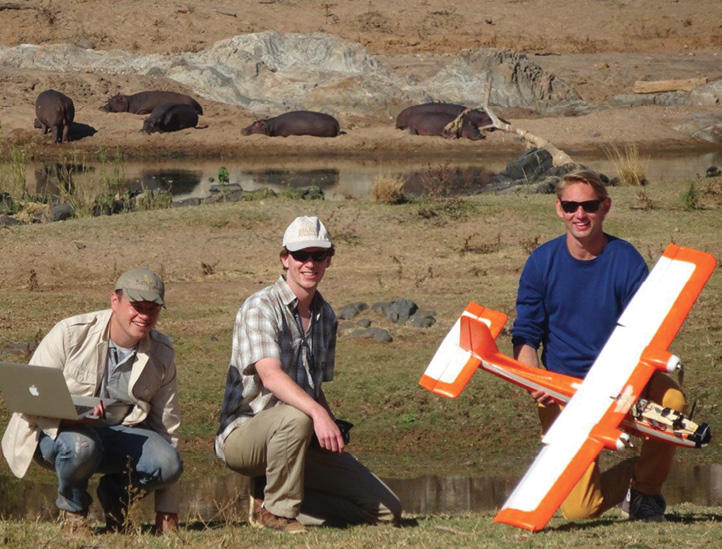 Members of the Dutch UAS team with their aircraft. Dutch UAS