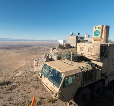 High-energy laser weapons target UAVs