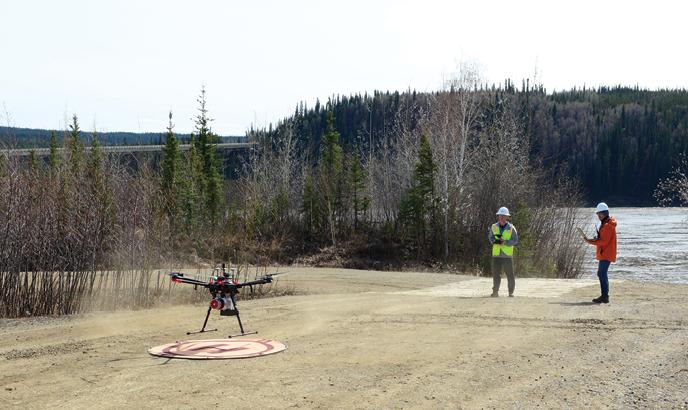 Drone in Alaska Field