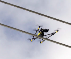 Intel's Falcon 8+ drone has the ability to stay a preset distance from the object being inspected.