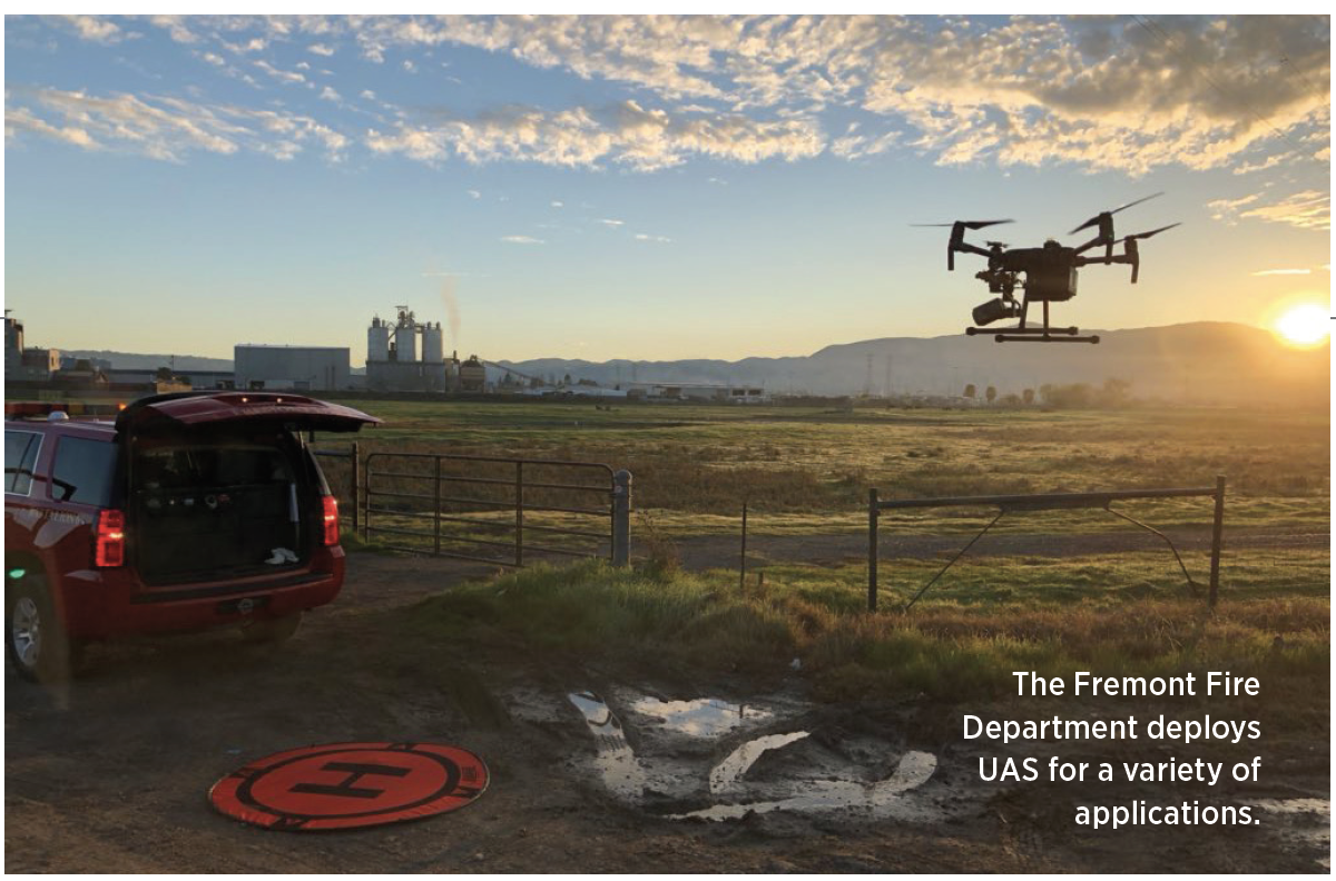 The Fremont Fire Department deploys UAS for a variety of applications.