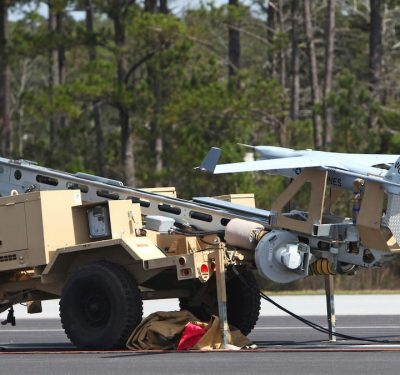 An RQ-21A Blackjack prepared for flight. The Blackjack is designed to operate off a Marine Expeditionary Unit in support of ground forces deployed worldwide. U.S. Marine Corps photo by Pfc. Nicholas Baird