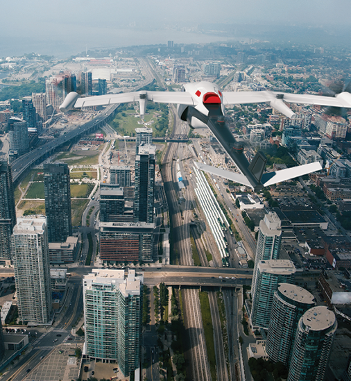 Honeywell Concept Aerial Downtown