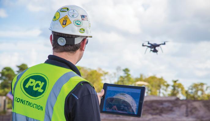 Bennington Construction Workers Using Drone 02
