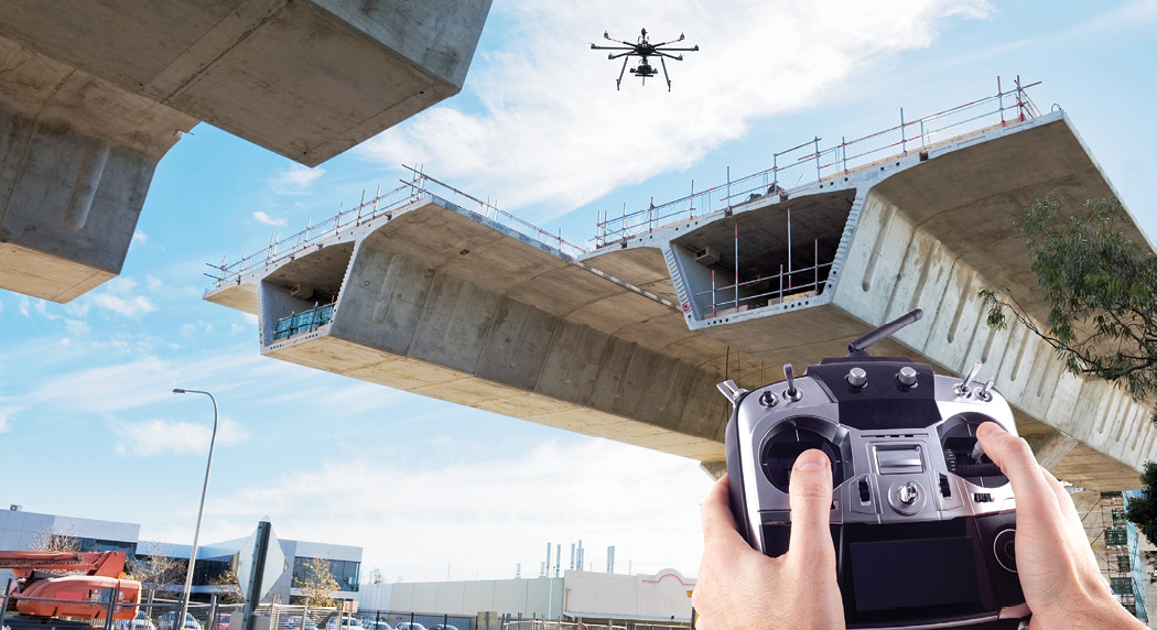 Construction with Drone 21229118
