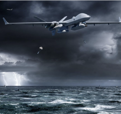 Artist's concept of an MQ-9B-SeaGuardian. General Atomics Image