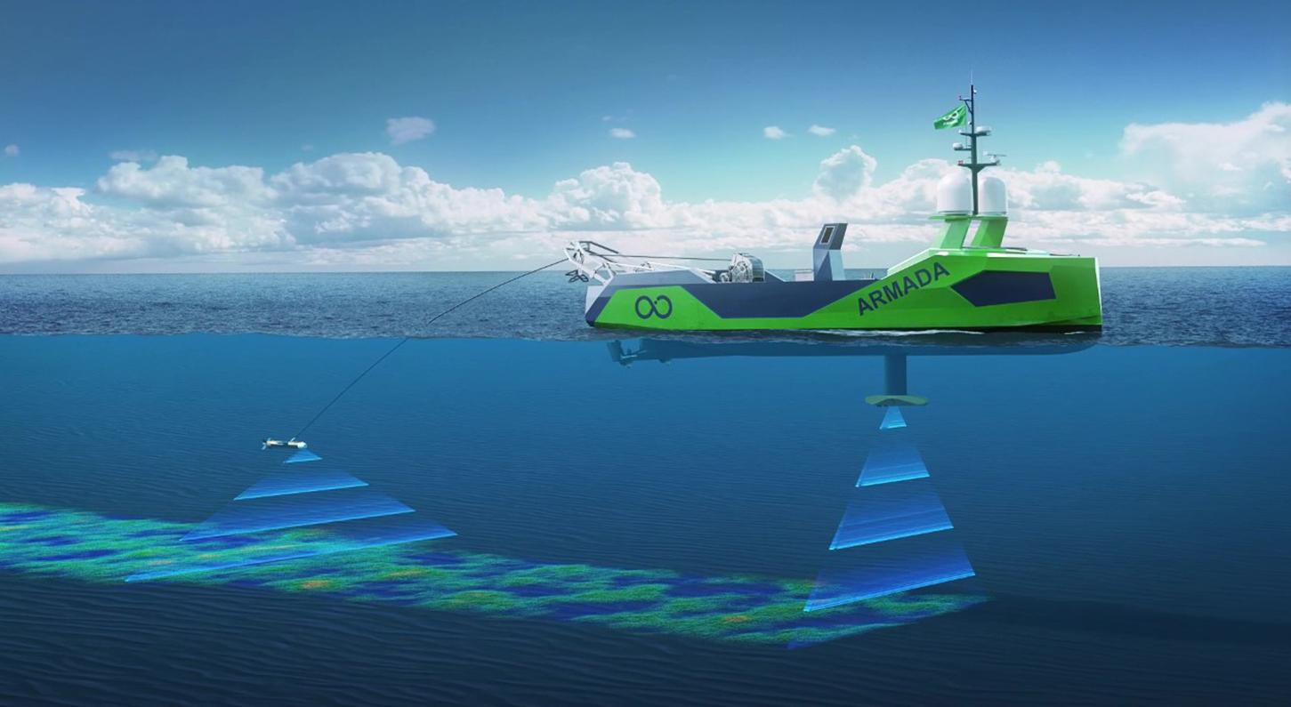 Armada robotic boat, courtesy Ocean Infinity