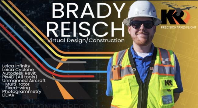 Kuker-Ranken (KR) Announces the Appointment of Brady Reisch, KR's Virtual Design/Construction (VDC) Specialist